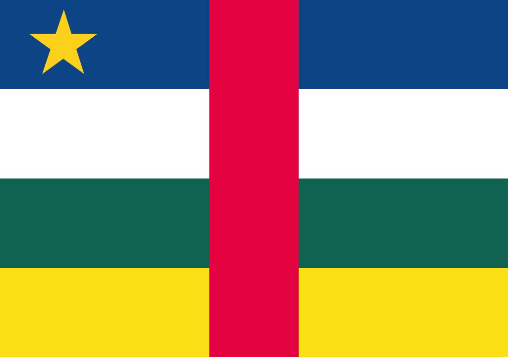 BANDEIRA DA REPUBLICA CENTRO AFRICANA