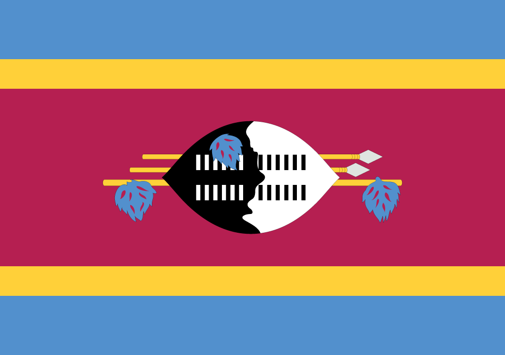 BANDEIRA DA SUAZILANDIA