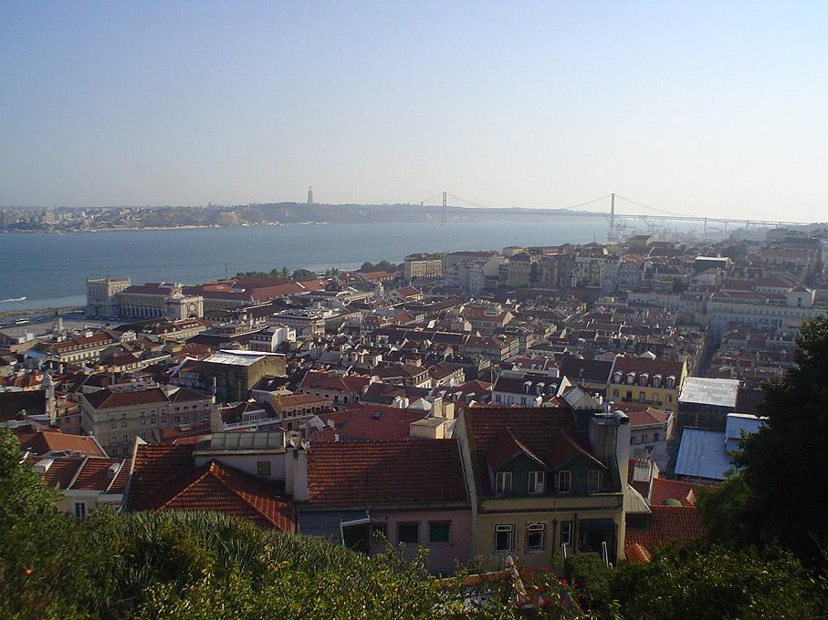 Fotografia Vista da Baixa Pombalina do Castelo de São Jorge, Lisboa