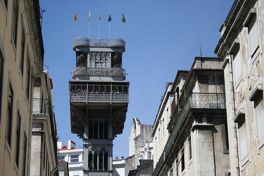 Fotografia Elevador de Santa Justa, Baixa Lisboa