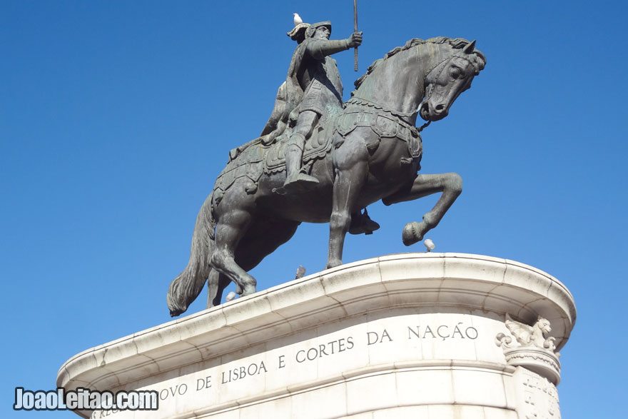 Estátua de Dom João I em Lisboa, Portugal
