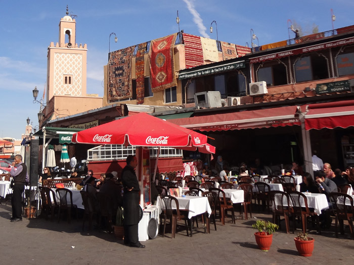 Photo of Jemaa al Fna café with breakfast in Marrakech