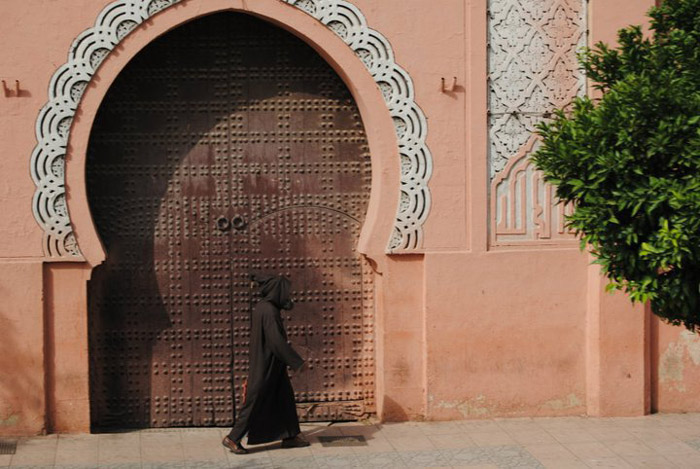 Photo of architecture in Marrakech, a beautiful door on the souk streets<br />