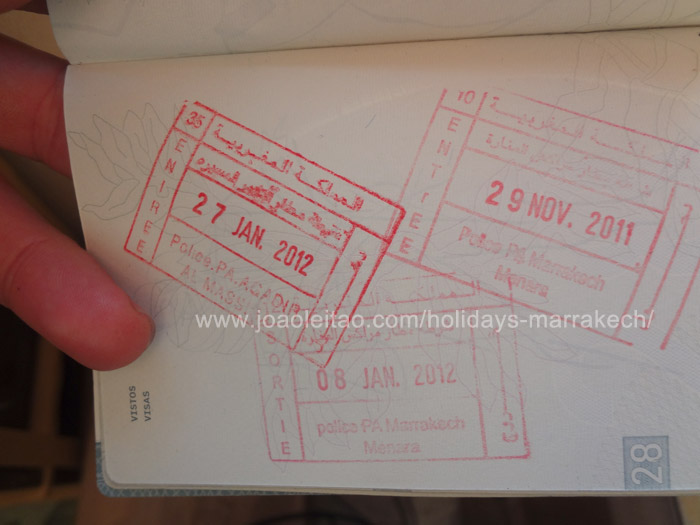 Photo of Moroccan entry stamps in Passport - Morocco visa