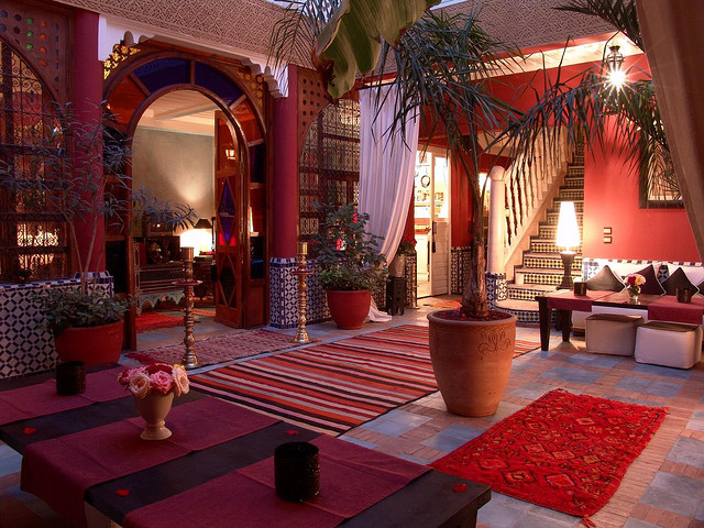 Moroccan riads courtyard architecture photos holidays marrakech - Photo riad marrakech ...