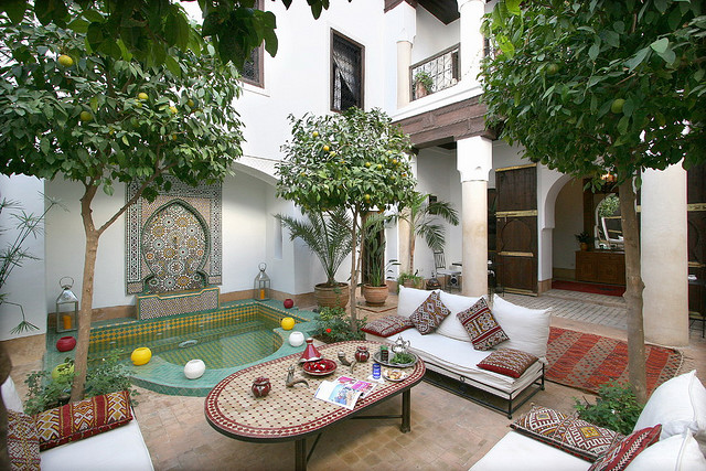 Moroccan Riads Courtyard Architecture Photos Holidays