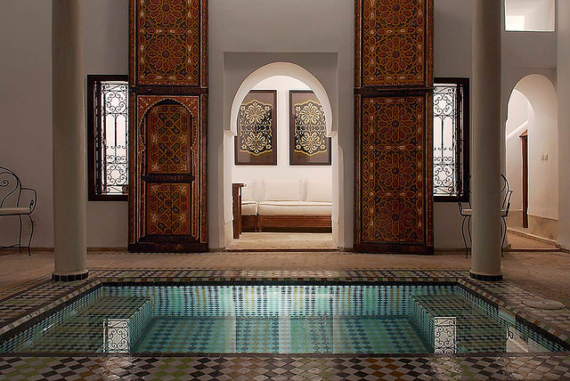 moroccan riads courtyard architecture photos holidays marrakech