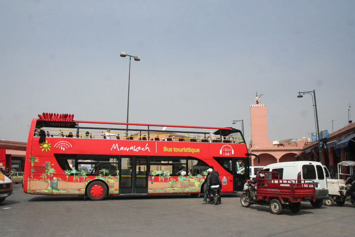 Photo of CIty Sightseeing Bus in Marrakech near Bab Mellah