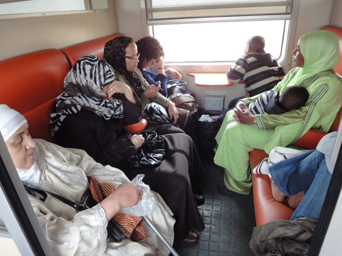 Photo of 2nd class train trip to Marrakech from Casablanca