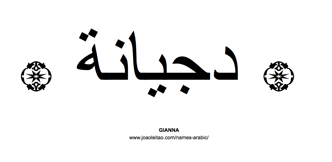 Gianna In Arabic