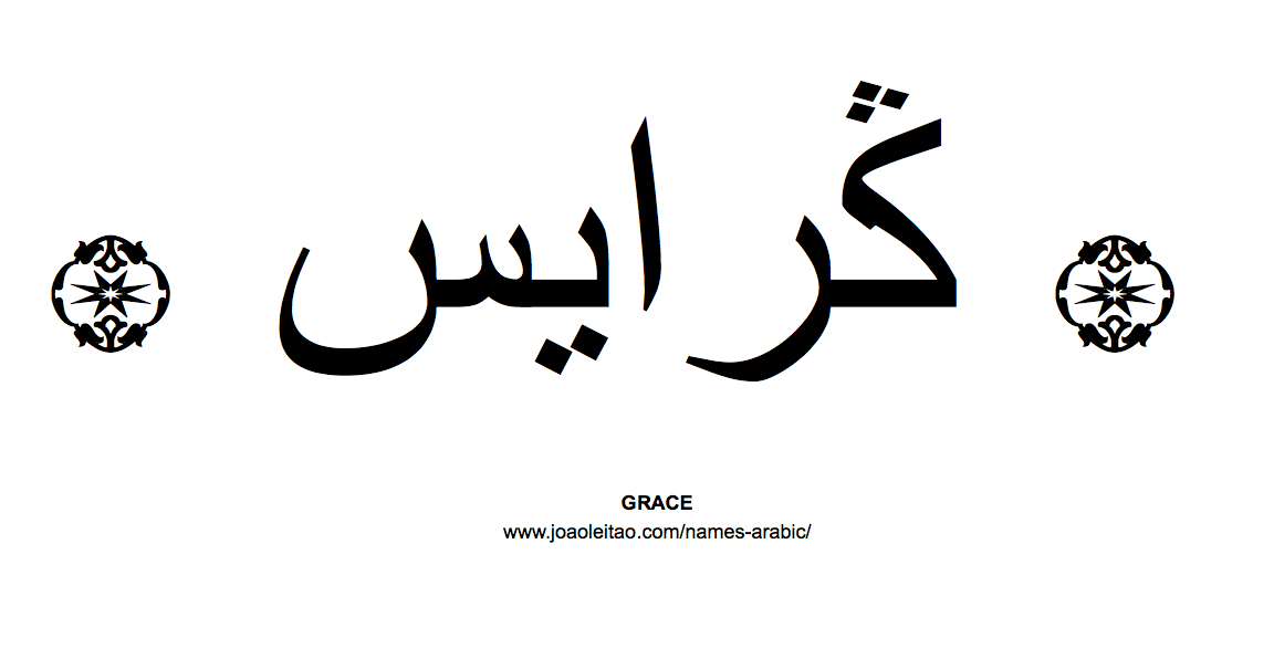 Your Name in Arabic Grace