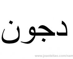 How to Write John in Arabic