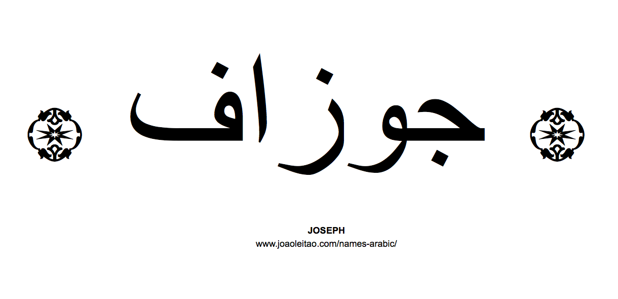 joseph-name-arabic-caligraphy