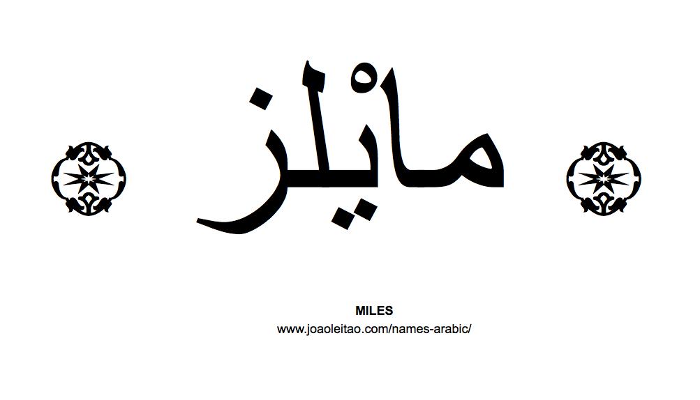 Miles In Arabic