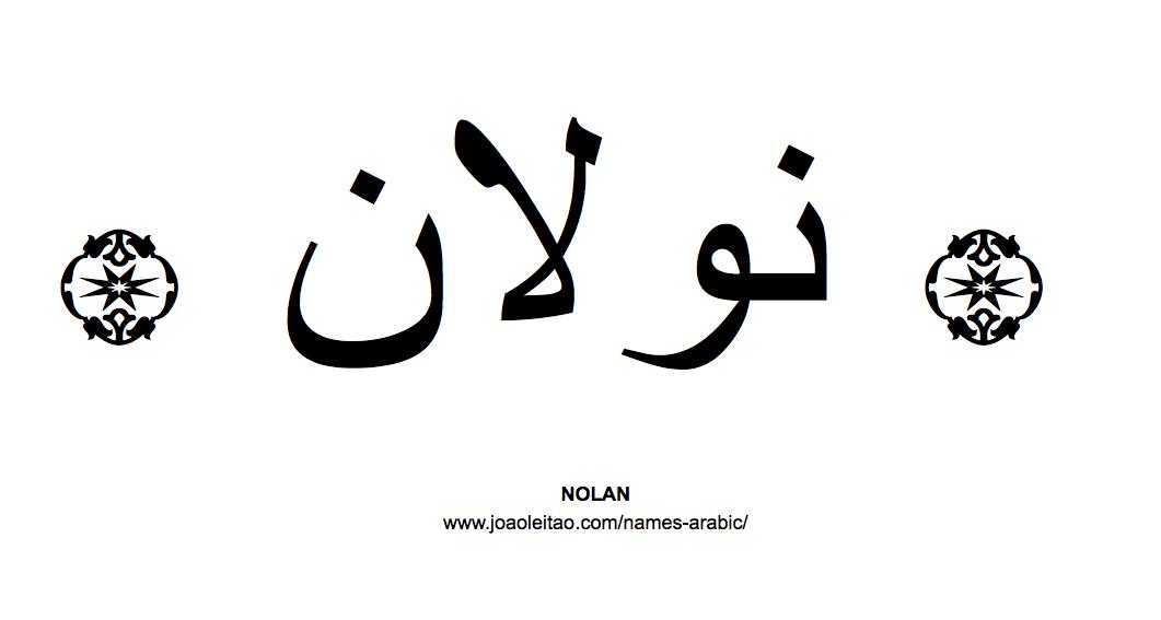 Nolan In Arabic