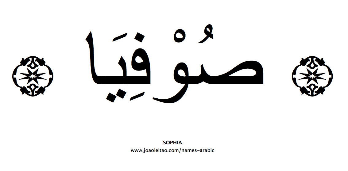 Your Name in Arabic: Sophia name in Arabic