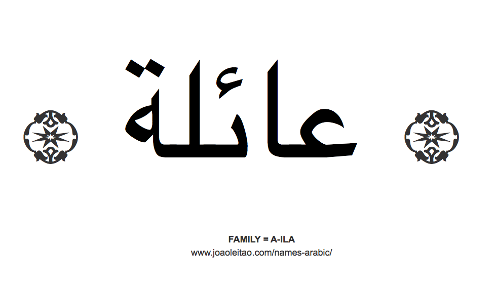 Word Family in Arabic = A-ILA