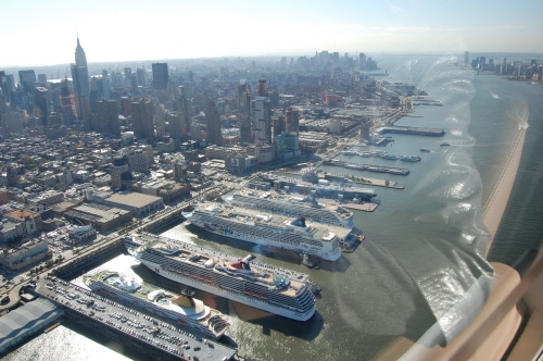 Helicopter ride in New York City