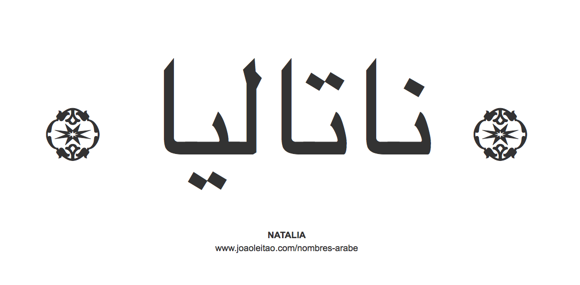 Natalia en árabe, nombre Natalia en escritura árabe, Cómo escribir Natalia en árabe