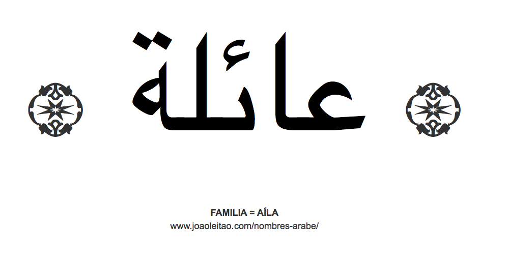 Palabra FAMILIA en árabe - AÍLA