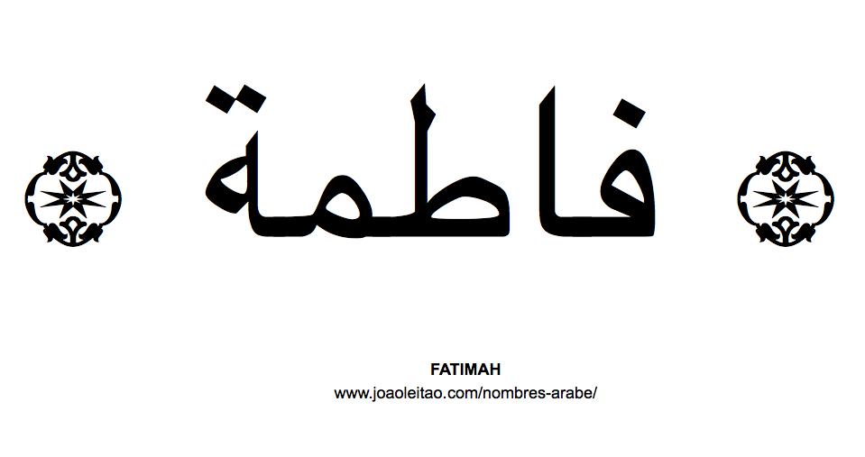 Fatimah Nombre Arabe de Mujer