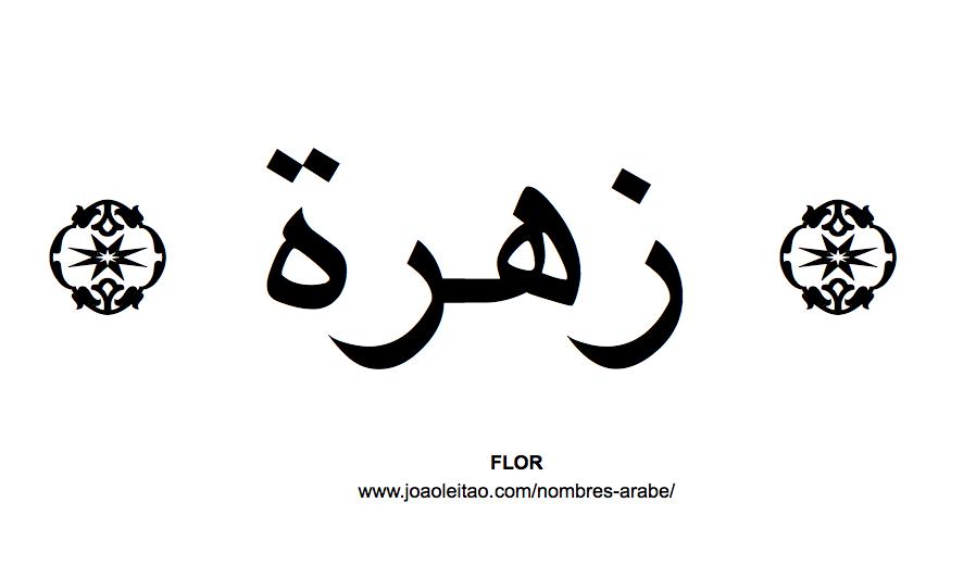 Flor en Caligrafia Arabe