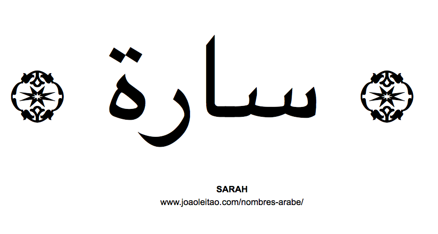 Sarah Nombre Arabe de Mujer