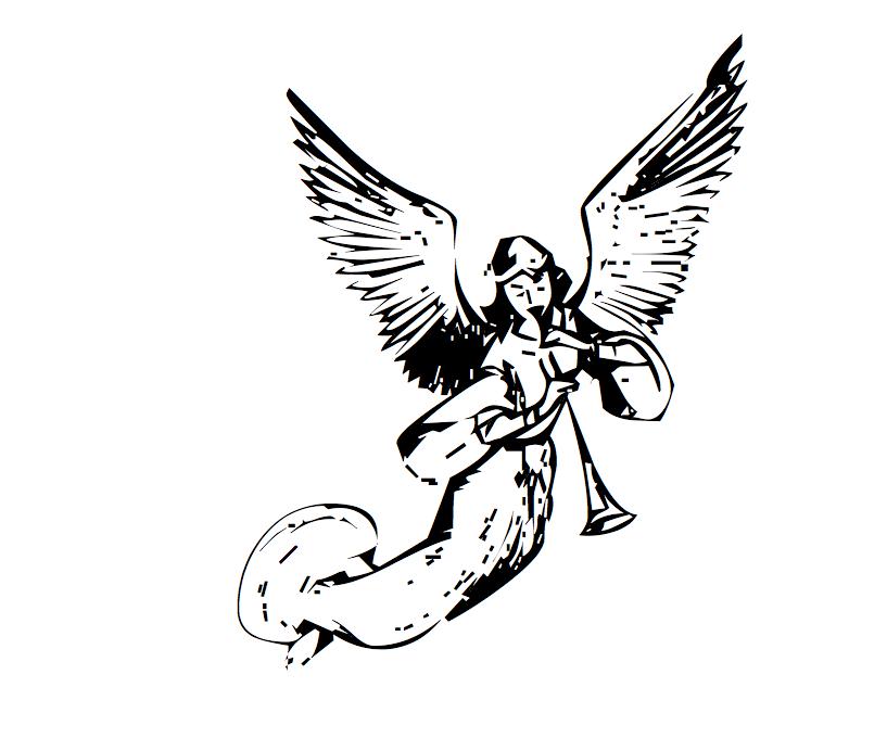 Desenho de Anjo para Tatuagem