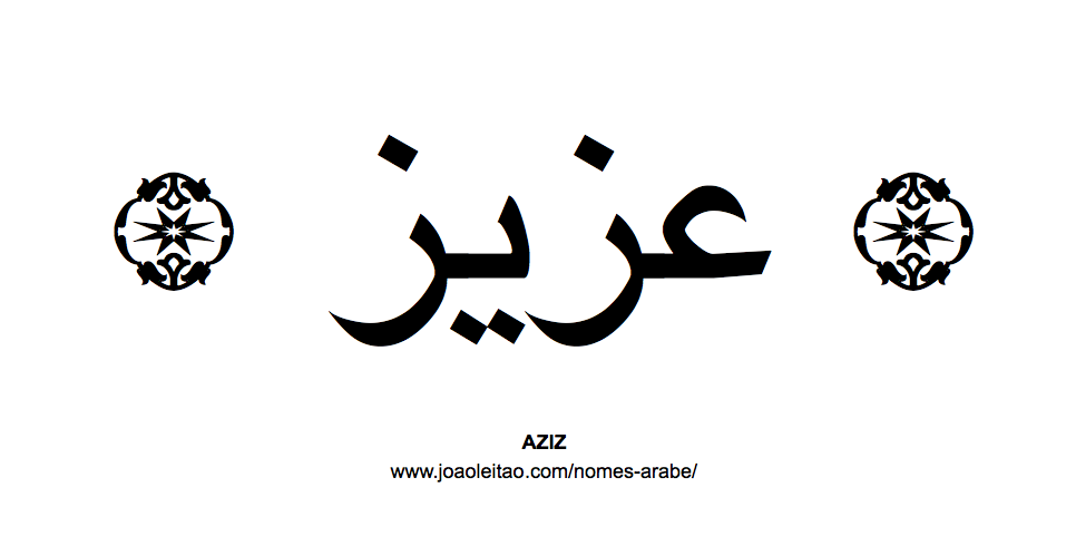 Aziz Nome Arabe Masculino
