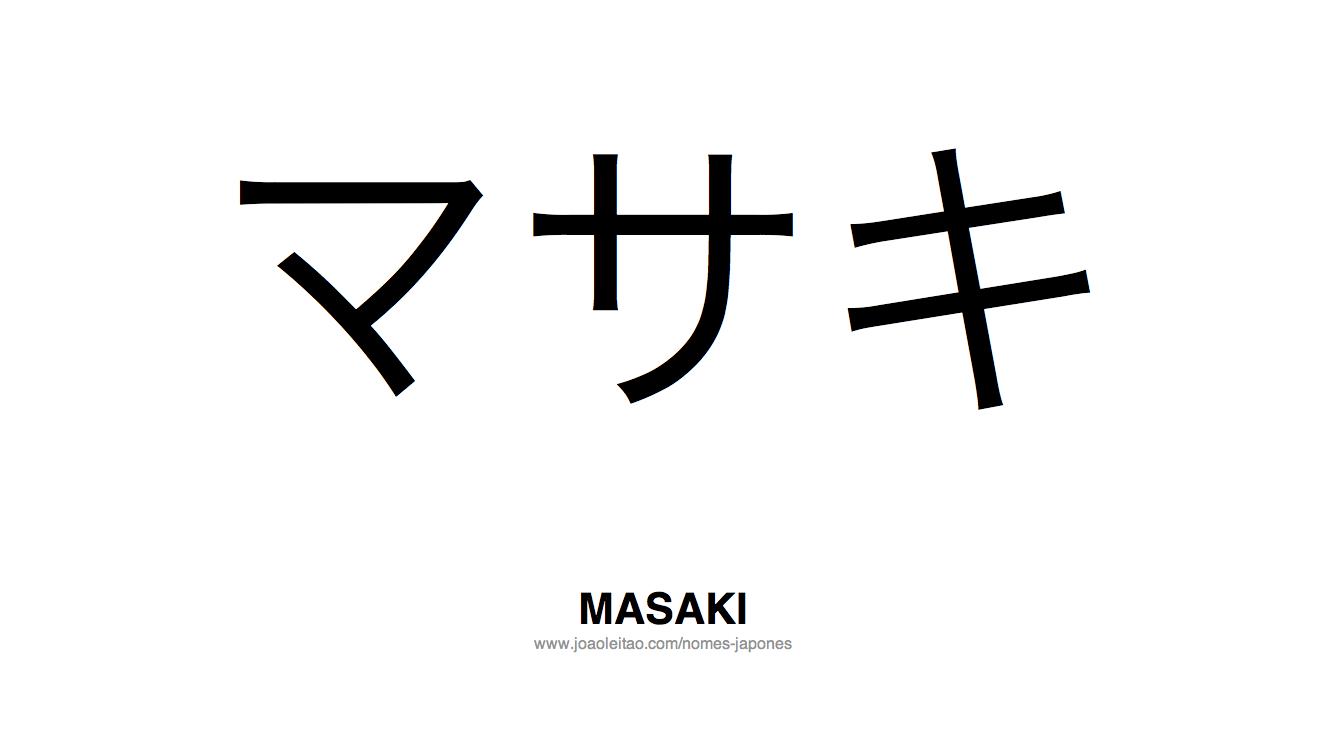 Masaki Nome Japones Masculino