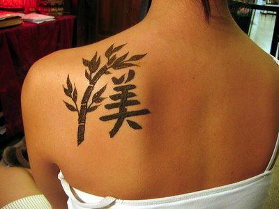 Tatuagem escrita em japones