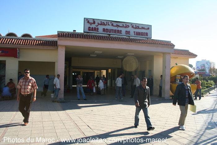 Entrée de la Gare Routière de Tanger au Nord du Maroc