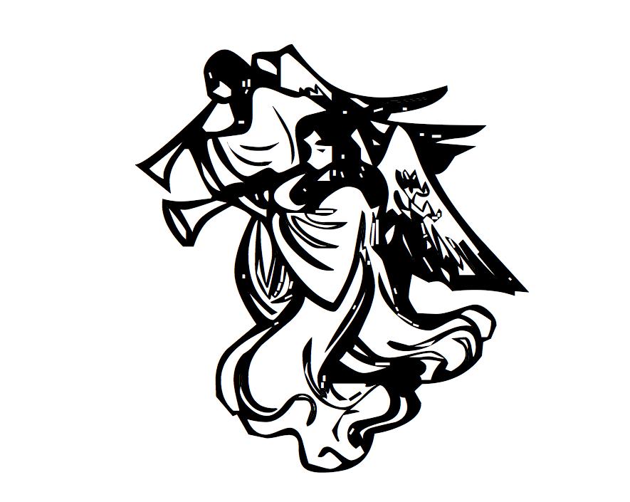 Tatouages anges modele dessins votre pr nom crit en - Dessin ange demon ...