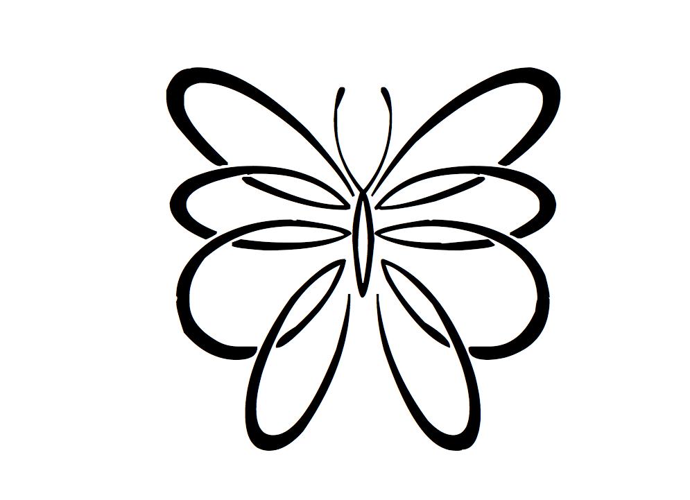 Tatouages papillon modele dessins votre pr nom crit - Modele papillon ...