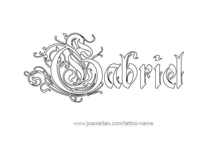 Angel gabriel tattoo pictures
