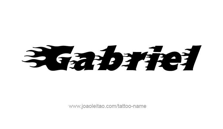 Gabriel Angel Name Tattoo Designs