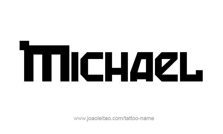 Michael Angel Name Tattoo Designs