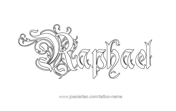 raphael angel name tattoo designs. Black Bedroom Furniture Sets. Home Design Ideas