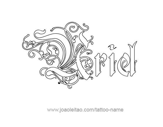 uriel angel name tattoo designs. Black Bedroom Furniture Sets. Home Design Ideas
