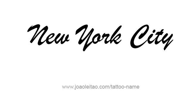 Tattoo Design City Name New York City