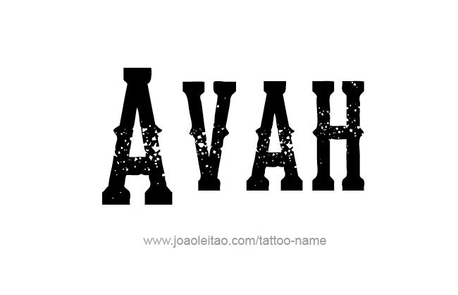 Avah Name Tattoo Designs