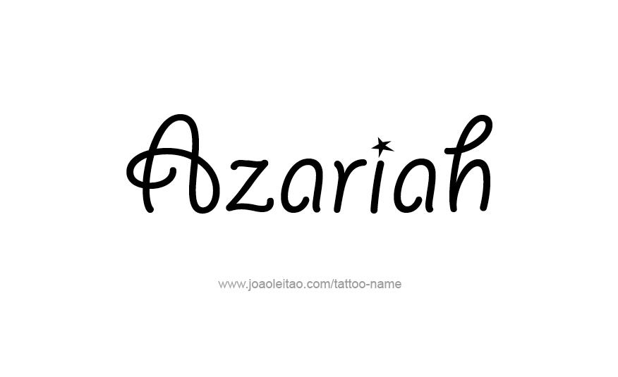 Azariah Name Tattoo Designs