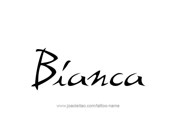 Tattoo Design Name Bianca