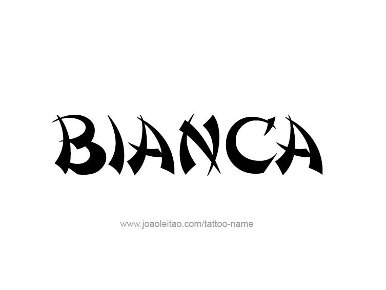 bianca name tattoo designs
