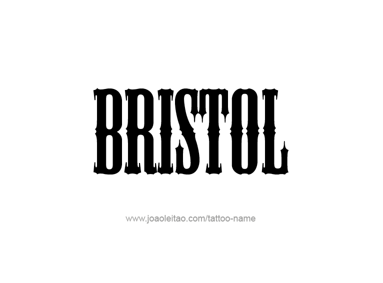 bristol name tattoo designs