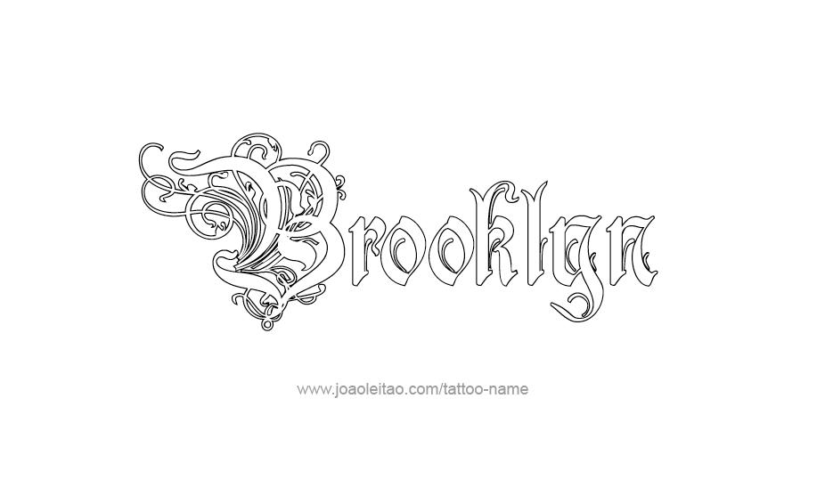 Tattoo design name brooklyn for Brooklyn tattoo ideas