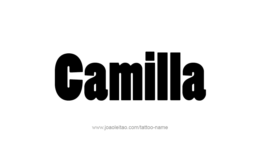 camilla name tattoo designs