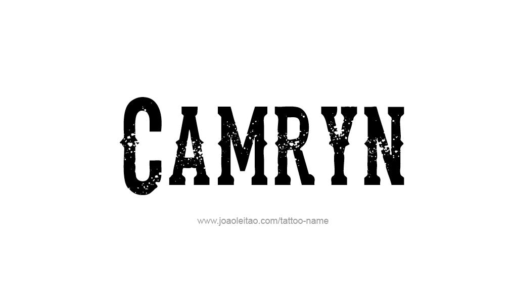 Camryn Name Tattoo Design