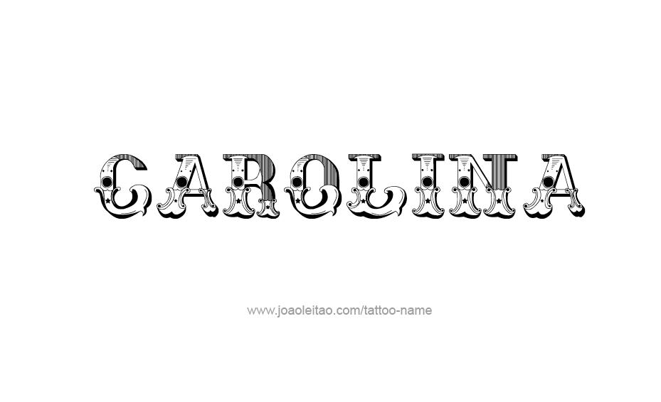 Carolina Name Tattoo Designs