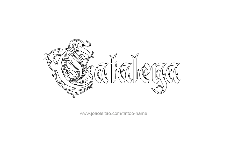 Cataleya Name Tattoo Designs Designopsy Com